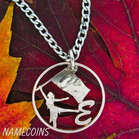 color guard jewelry color guard cut out with initial cut coin namecoins