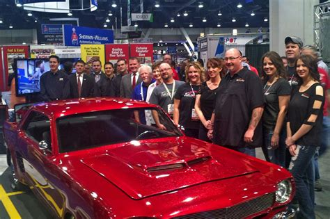 red velvet car sema 2014 red velvet martin senour paint shines on