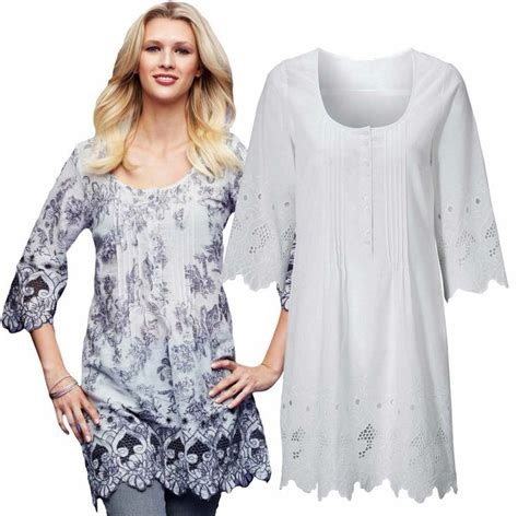 Blouse Tunic Muslim Au Lia tunic top size 6 18 white broderie anglaise