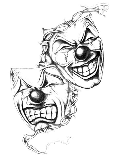 эскизы тату маски тритатушки