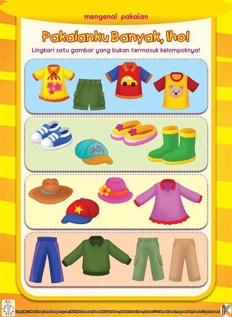 Buku Anak Aktifitas Tk A B mengenal pakaian ebook anak