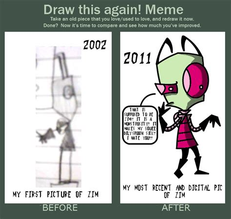 Invader Zim Memes - do zim again zim commands you meme by insanelyadd on