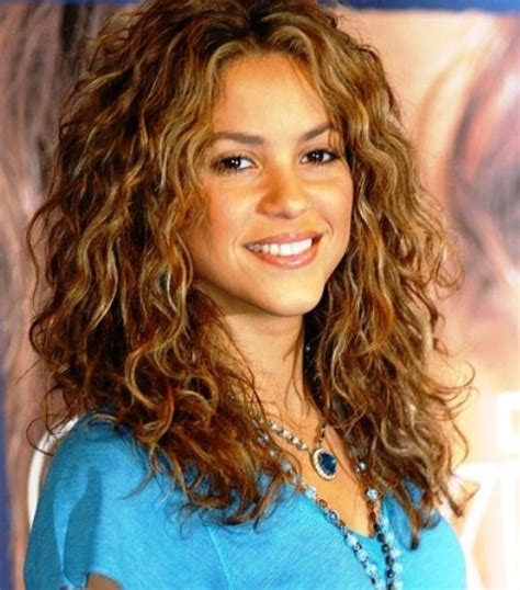 celebrities with perms shakira newest style with beautiful perms