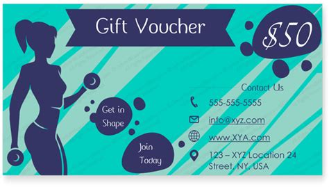 Fitness Gift Card Template by Get In Shape Gift Certificate Template Certificate