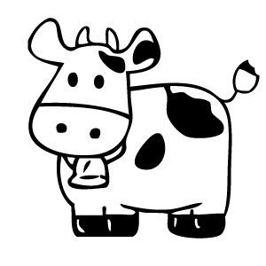Cow Drawing Outline by Cow Outline Quotes