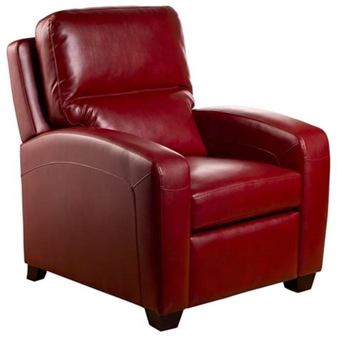 red recliner brice contemporary recliner chair emerson red leather