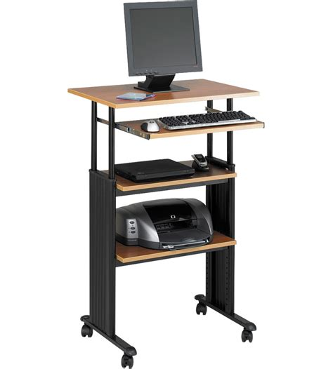 computer stand up desk stand up computer desk in computer and laptop carts