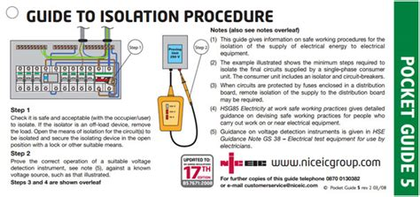 the importance of safe isolation electrical test and