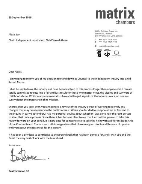 Resignation Letter Format For Finance Resignation Letter Sles
