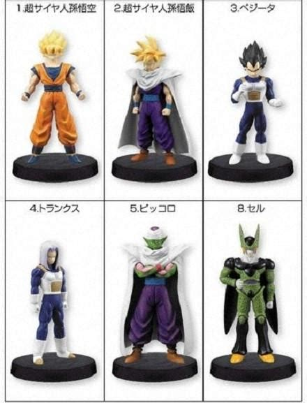 Bandai Characters Collection Trading Figure bandai z real works cell edition 6 trading