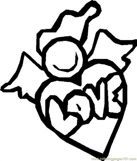 valentine angels coloring pages z angel 6 coloring page free valentine s day coloring