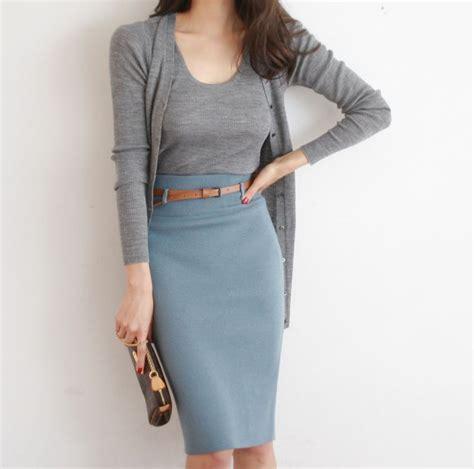pencil skirt cardigan fashion