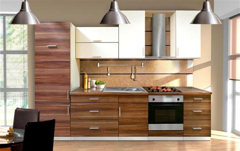 Modern kitchen cabinet design ideas furnished with electric oven range