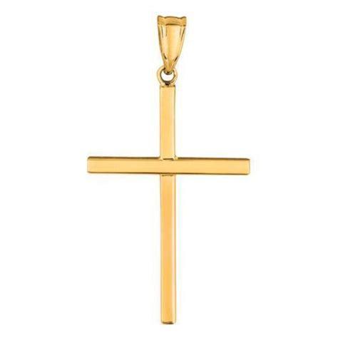small gold cross pendant ebay