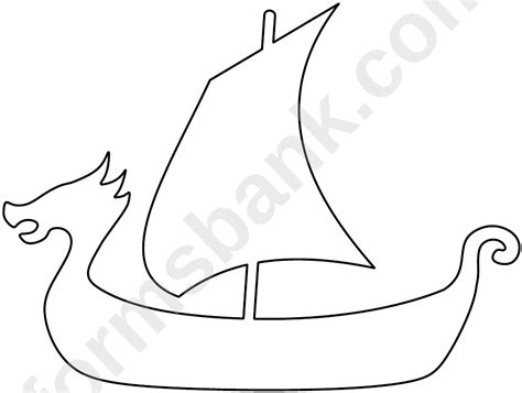 viking ship pattern template printable