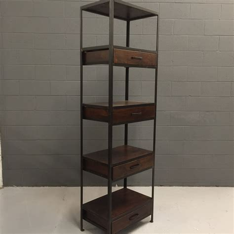 iron and wood bookcase with four drawers nadeau nashville