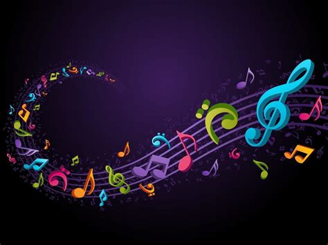 background themes songs music notes backgrounds wallpaper cave