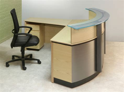 Small Reception Desks Small L Shaped Desks Bestar Embassy L Shaped Desk With Peninsula Bestar Pro Concept L Shaped