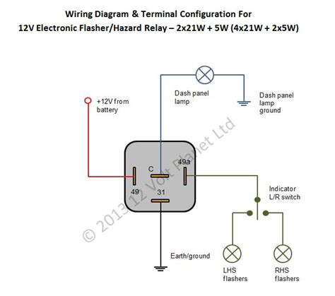 electronic flasher wiring diagram electronic get free
