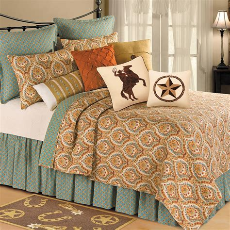 Western Quilt Bedding Sets Western Bedding Valencia Quilt Bedding Collection Lone Western Decor