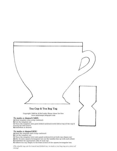 tea bag card template teacup card template splitcoaststers