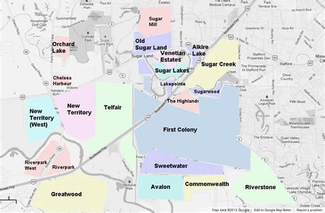 map of sugarland texas katy vs sugar land