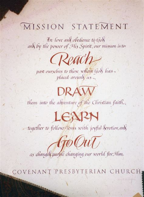 mission statements for churches
