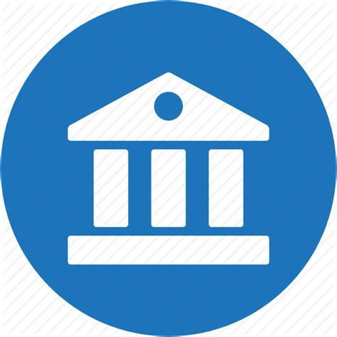 bank icon bank building business circle finance icon