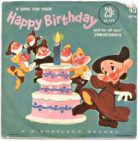 Records Birthdays Happy Birthday A Disneyland Record 7 Quot My Vinyl Collection Birthdays