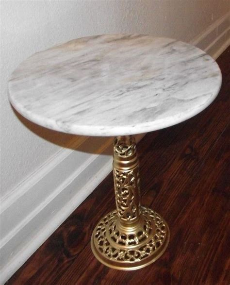 table base for marble top vintage marble top table with ornate brass pedestal