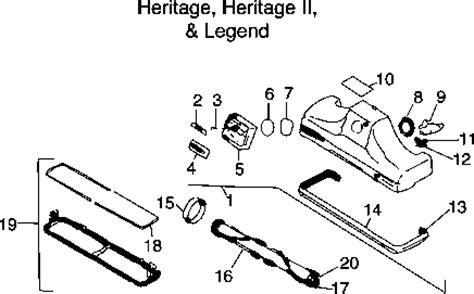 kirby vacuum parts diagram kirby heritage ii repair parts diagrams partswarehouse