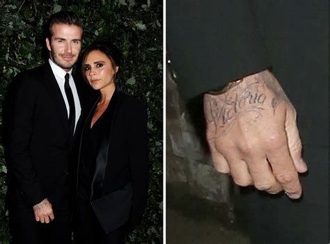david beckham victoria tattoo photos see where david beckham placed his tatoo