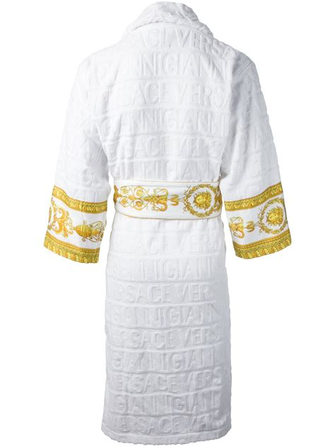 Got Not One But Two White Versace Snap Out Of It Bags by The Trueself Versace Robe Replica