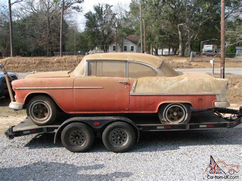 Air Finder 1955 Chevy 2 Door Hardtop Belair Factory V8 Barn Find Project Rat Rod