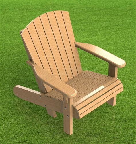 adirondack style lawn chair building plans  easy