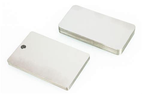 printable metal tags blank metal tags single coiled steel aluminum stainless
