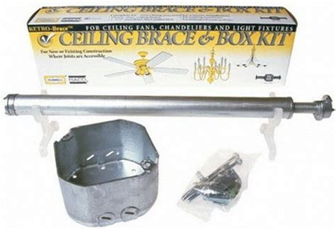 Ceiling Fan Box With Brace by Replace A Light Fixture With A Ceiling Fan