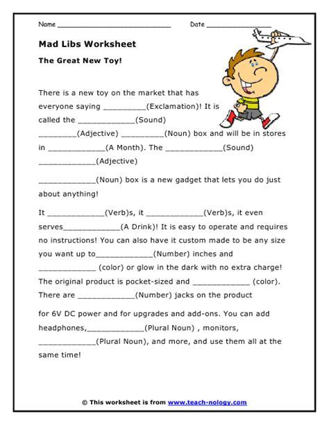 printable mad libs teen mad libs printable worksheets