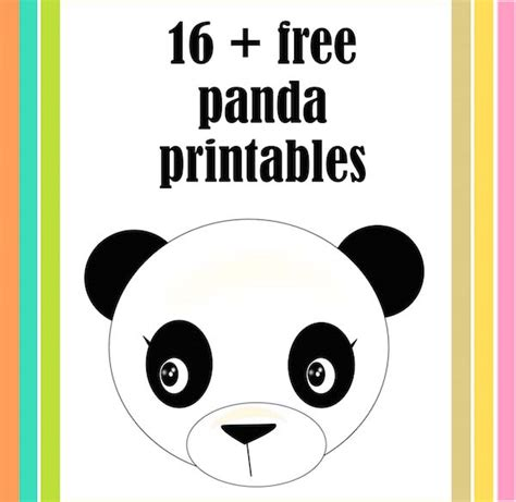 Panda Birthday Card Template by 21 Free Printable Panda Gifts Cards And Toys