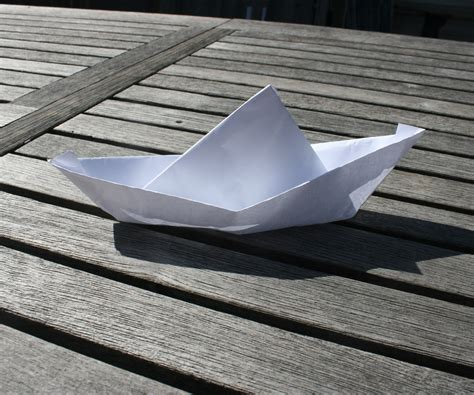 How To Make Paper Boat That Floats - make a floating boat out of paper
