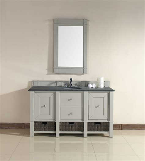 60 inch single sink bathroom vanity in dove gray