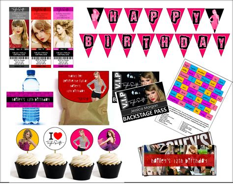 taylor swift themed birthday party diy taylor swift party games printables
