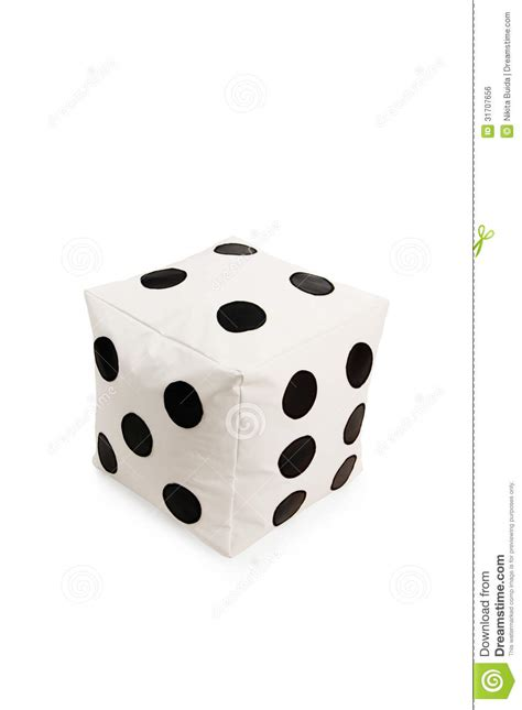 Dice Room by And Soft Beanbag Chair In Shape Of Dice Royalty Free