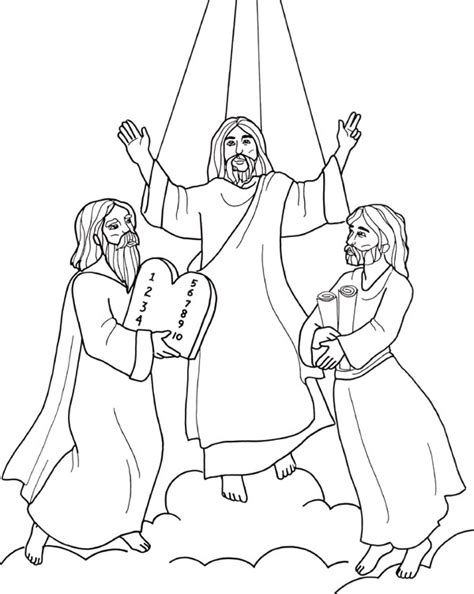 transfiguration of jesus coloring pages transfiguration