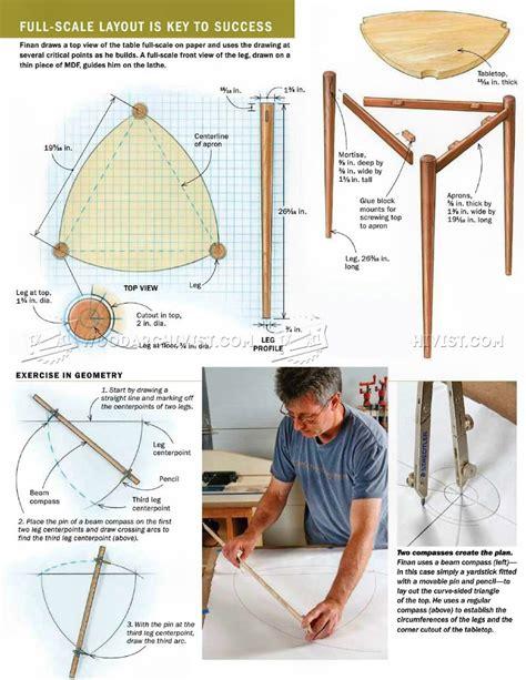 triangle table plans woodarchivist
