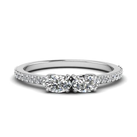 two engagement rings fascinating diamonds