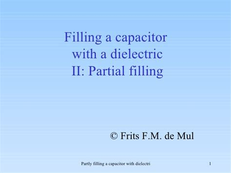 capacitors with partial dielectrics 28 images solutions mastering physics hw15 pdf physics