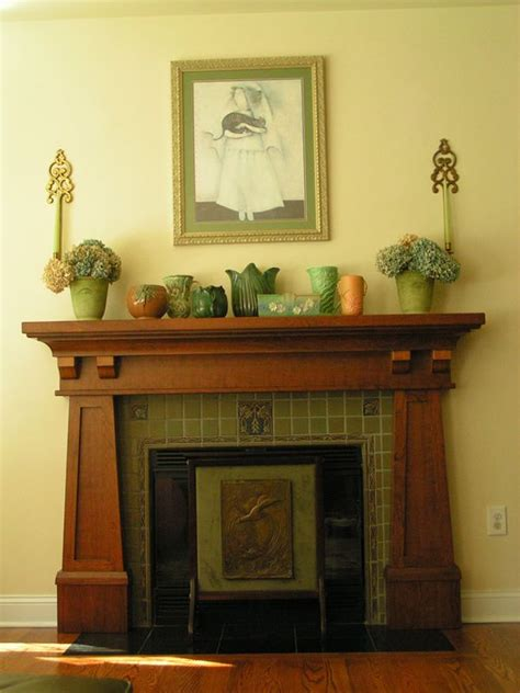 craftsman style mantle bungalow fireplaces