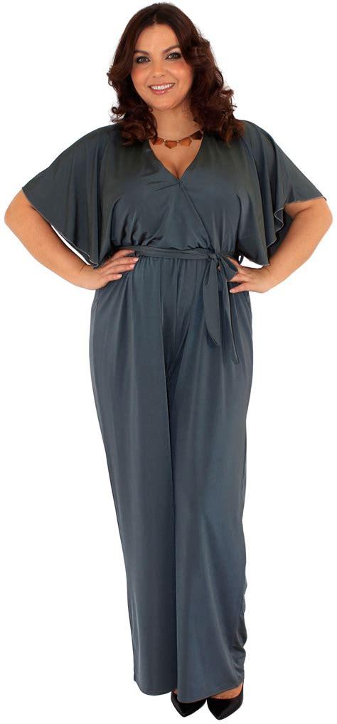 Denim 2in1 Jumpsuit new plus size bleated wrap palazzo jumpsuit dress 16 26 ebay