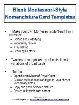 Template For Montessori Nomenclature Cards by Pin By Beth Vaughn Belardo On Montessori